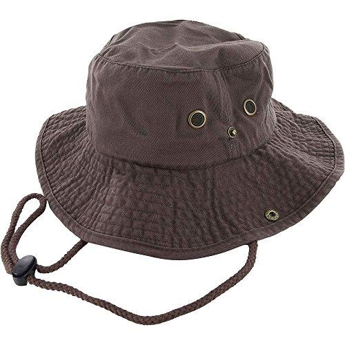 Brown_(US Seller)Cotton Hat Boonie Bucket Cap Summer Men