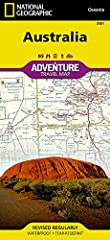 """• Waterproof • Tear-Resistant • Travel Map       Explore the wondrous """"land down under"""" with National Geographic's Australia Adventure Map. Designed to meet the needs of adventure travelers with its detailed, accurate information, this..."""