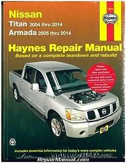 h72070 nissan titan 2004 2014 nissan armada 2005 2014 haynes rh amazon com 2008 Nissan Titan nissan titan manual door unlock
