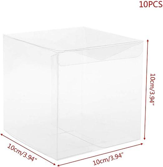 LyGuy Caja de Regalo, 10 Piezas de plástico PVC Transparente ...