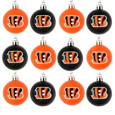 NFL Football Plastic Ball Holiday Tree Oranament Set (12 Pack) - Pick Team