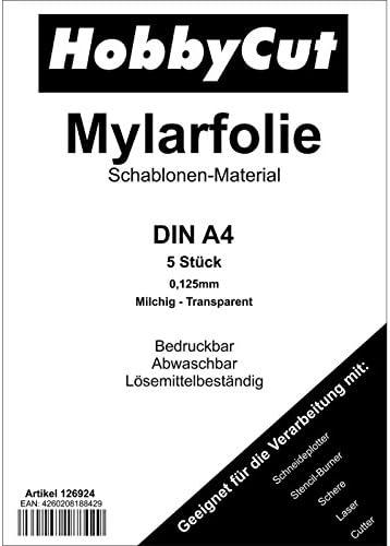Mylar - Plantillas para aerógrafo (5 unidades, DIN A4): Amazon.es: Bricolaje y herramientas