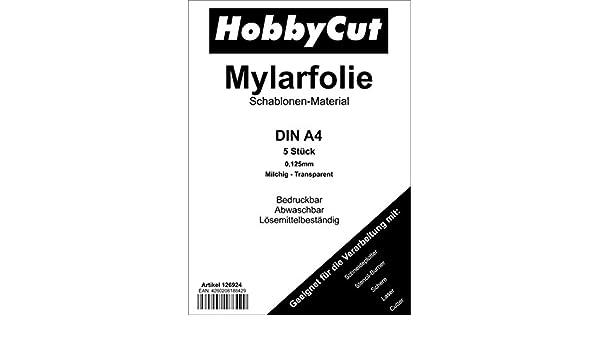 Mylar - Plantillas para aerógrafo (5 unidades, DIN A4): Amazon.es ...