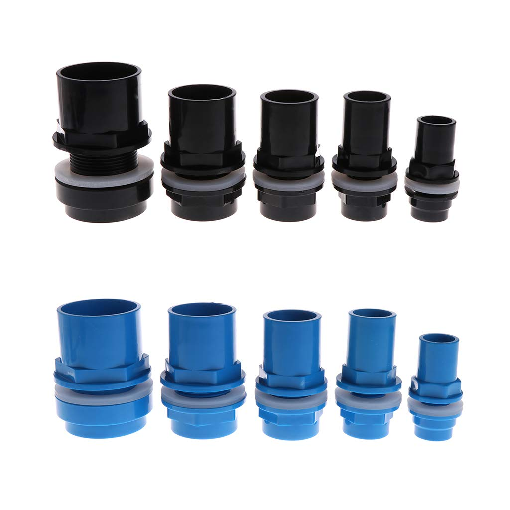 Tandou Aquarium Inlet Outlet Fitting Head Water Pipe Fitting Connector 20//25//32//40//50mm