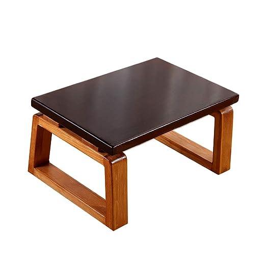 C-Bin1 Mesa de madera maciza, sala de estar, balcón, mesa de piso ...