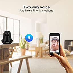 AOBO WiFi Camera 1080P HD Nanny Cam Baby Monitor IP Camera Wireless Surveillance Camera with Pan Tilt Motion Detection Two Way Audio and Night Vision for Home Security System