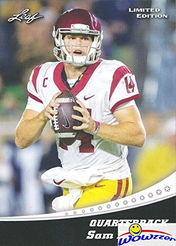(Sam Darnold 2018 Leaf Draft #12 Limited Edition FIRST EVER PRINTED ROOKIE Card in MINT Condition Shipped in Ultra Pro Top Loader to Protect It! Awesome Rookie Card of New York Jets Top NFL Pick!)