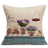 Pillow Case Sofa Waist Cushion Cover,Elaco Home Decor Cotton Linen Throw Pillowcase (I)