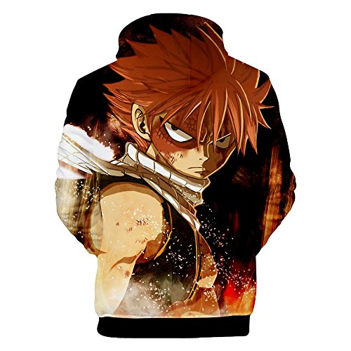 Japan Anime Natsu Lucy Costume 3D Printed Hoodie Pullover Sweatshirt (Small, Color 2) by VOSTE (Image #1)