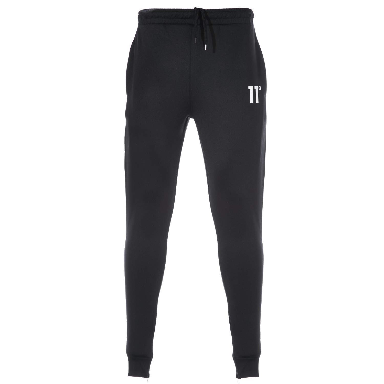 11 Degrees Core Zip Poly Sweatpant in schwarz