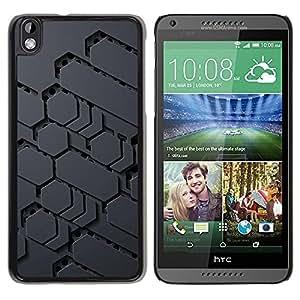 Estuche Cubierta Shell Smartphone estuche protector duro para el teléfono móvil Caso HTC DESIRE 816 / CECELL Phone case / / Sci-Fi Pattern Alien Grey Pc Gamer /
