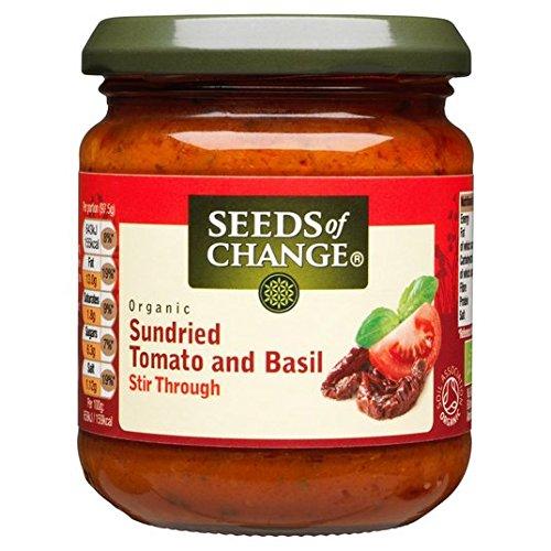 Semillas de cambio de tomate y albahaca Pasta 195g Salsa