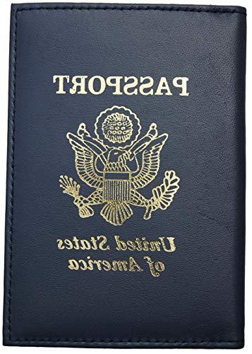 Mikash RFID Scan Blocking USA Leather Passport Cover Travel Document Holder Card Wallet | Model TRVLWLLT - 1274 |