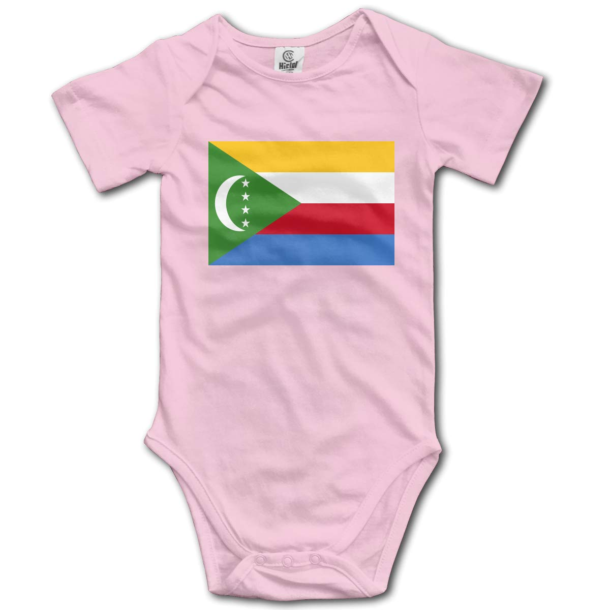 CUTEDWARF Baby Short-Sleeve Onesies Flag of The Comoros Bodysuit Baby Outfits