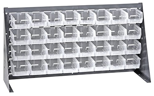 Quantum Storage Systems QBR-3619-210-32CL Ultra Bin Complete Bench Rack Package with 32 Ultra Bins, 36