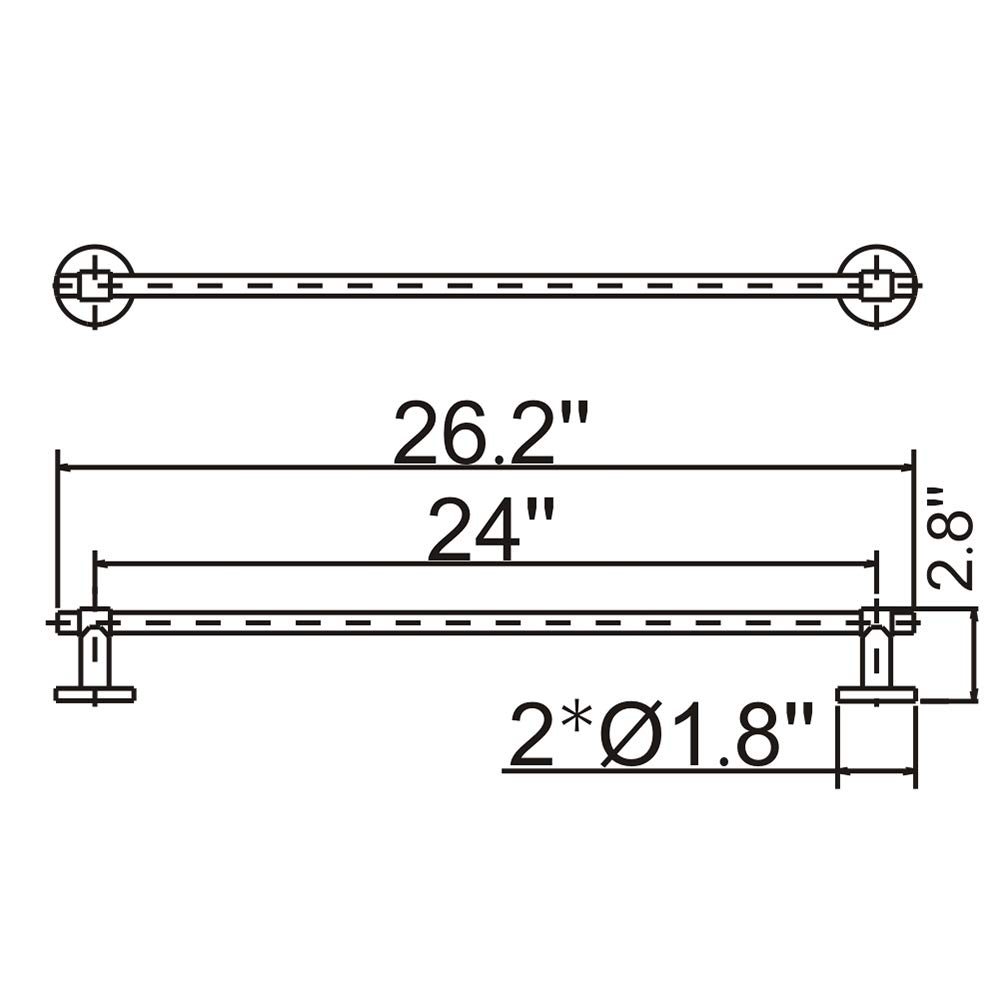 Amazon.com: DESFAU 24-Inch Towel Bar SUS 304 Stainless Steel ... on delta and wye diagram, motor starter ladder diagram, star sv32j basic wiring schematics, star delta power diagram, star delta transformer diagram, wye-delta starter diagram, star delta control panel, wye-delta motor control diagram, star wiring method, star delta circuit, art star diagram, star delta control diagram,