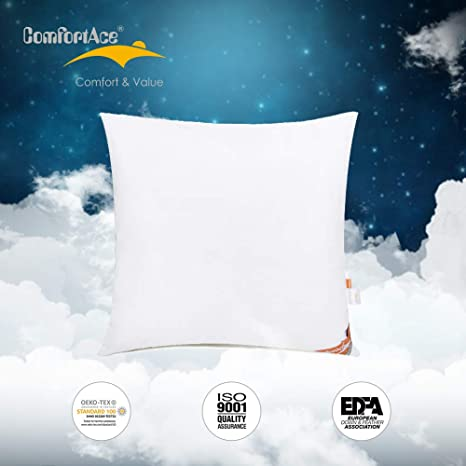 ComfortAce Almohada cojín Relleno Plumón de Pato Blancas ...