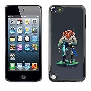 Ihec Tech Vikingo Big Man Warrior Espada Barbarroja Fuerte / Funda Case back Cover guard / for Apple iPod Touch 5