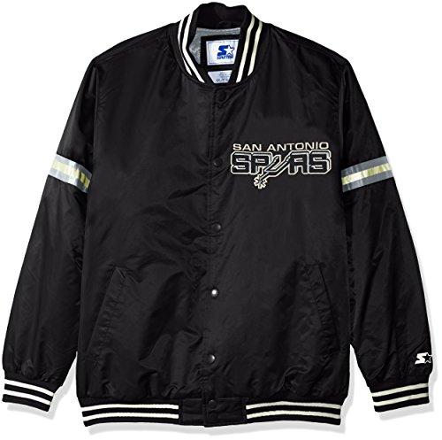 - STARTER NBA San Antonio Spurs Men's Legecy Retro Satin Jacket, Large, Black