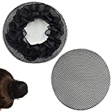 New8Beauty Hair Nets Black - Hair Accessories for Ballet Bun Cover Dance Skating Gymnastics Wedding Performance (2 Pack)