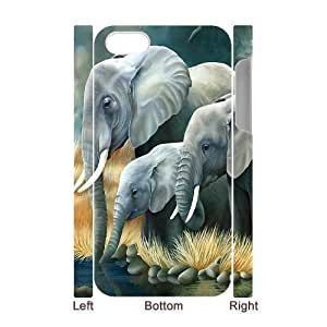 C-Y-F-CASE DIY Design Cute Wild Elephant Animal Pattern Phone Case For Iphone 4/4s