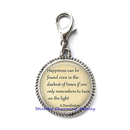 Amazoncom Stintless Charming Jewelry Quotes Happiness Can Be