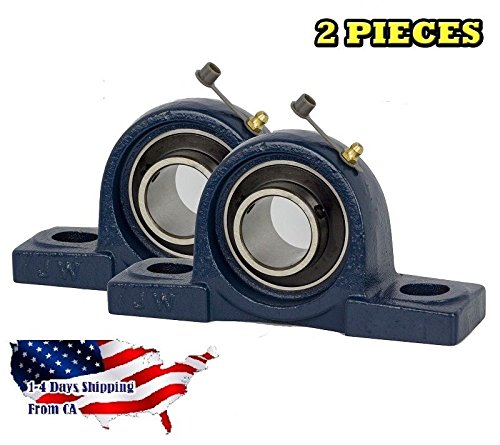 2 Pieces UCP206-20, 1-1/4 inch Pillow Block Bearing Solid Base,Self-Alignment, Brand New (Pillow Blocks)