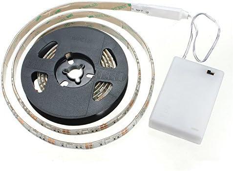 cuzile tira luz LED Color Blanco 100 cm 33 in. + Batería Caja + interruptor, funciona con pilas, azul: Amazon.es: Hogar