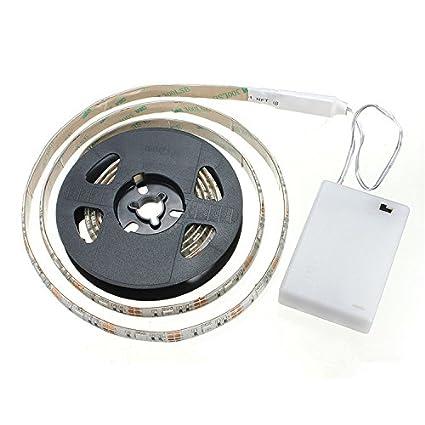 cuzile tira luz LED Color Blanco 100 cm 33 in. + Batería Caja