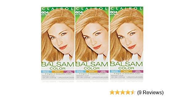 Amazon.com : Clairol Balsam Hair Color 604 Dark Blonde 1 Kit (Pack of 3) : Chemical Hair Dyes : Beauty