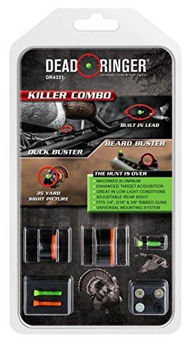 Dead Ringer Killer Combo Shotgun Sight Kit | Superior Brightness | Windage and Elevation Adjustment