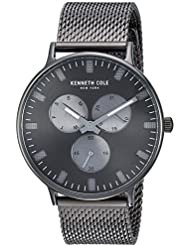 Kenneth Cole New York Mens Sport Quartz Stainless Steel Dress Watch, Color:Grey (Model: KC14946015)