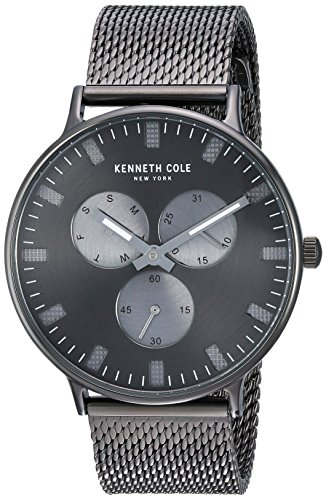 Kenneth Cole New York Men's 'Sport' Quartz Stainless Steel Dress Watch, Color:Grey (Model: KC14946015)