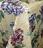 Lilac Garden 60x84 Oblong Vinyl Flannelback Tablecloth