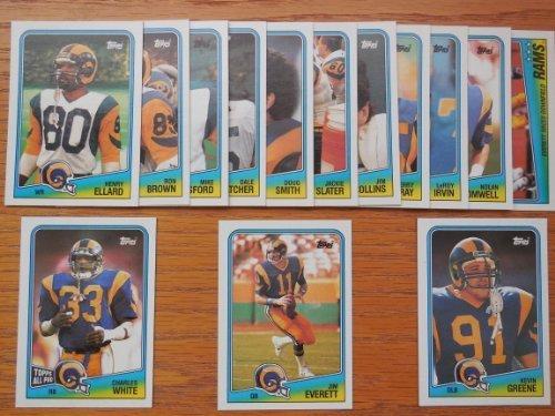 Slater Card Jackie (Los Angeles Rams 1988 Topps Football Team Set (Kevin Green Rookie) (Jim Everett) (Charles White) (Henry Ellard) (Jackie Slater) (Nolan Cromwell) (St Louis))