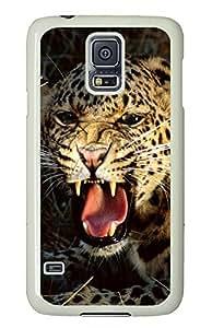 Samsung Galaxy S5 Leopard 02 PC Custom Samsung Galaxy S5 Case Cover White