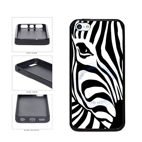 Silicone Cover Zebra Case - BleuReign(TM) Zebra Face In Zebra Pattern TPU Rubber SILICONE Phone Case Back Cover For Apple iPhone 5C