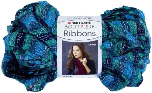 (Red Heart Boutique Ribbons Yarn, Laguna)