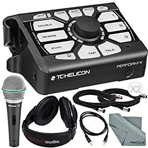 TC-Helicon Perform V Vocal Processor and Deluxe Accessory Bundle w/Samson Q6 Mic + Stereo Headphones + Fibertique Cloth…