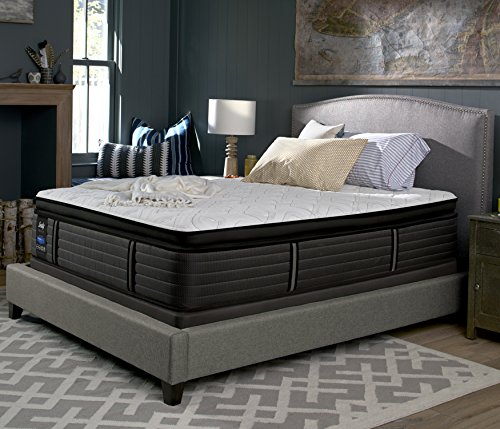 Sealy Response Premium 16-Inch Plush Euro Pillow Top Mattress, King, Made in USA,  10 Year Warranty