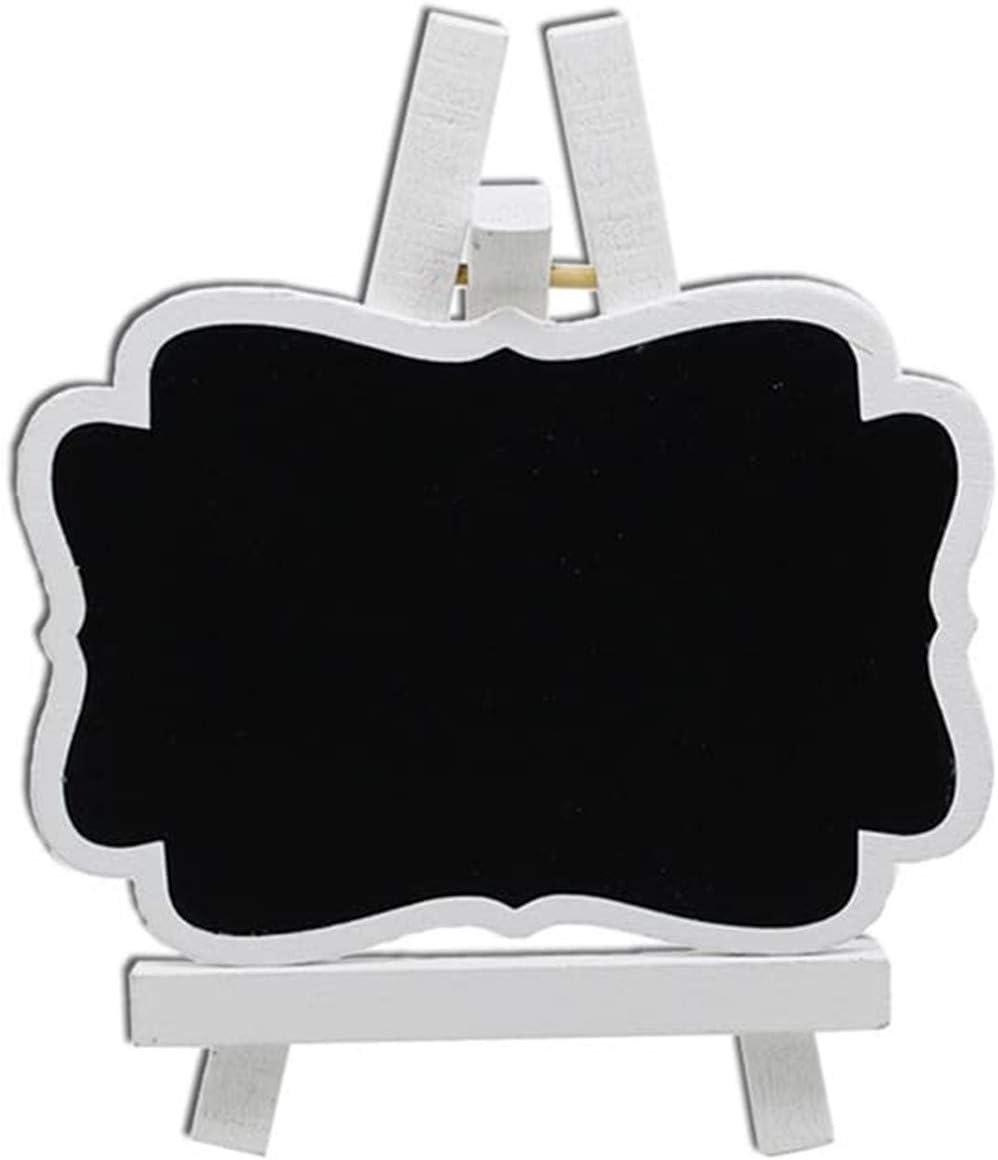 ProLeo 10pcs Wooden Mini Vertical Small Blackboard Blackboard Blackboard with Easel for Wedding and Birthday Table Decoration