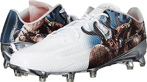 Adidas Adizero 5star 5,0 Uncaged Mens Fotboll Cleat Vit / Vit / Platina