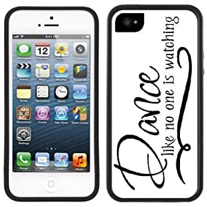 Dance Like No One Is Watching Handmade iPhone 5 Black Bumper Plastic Case