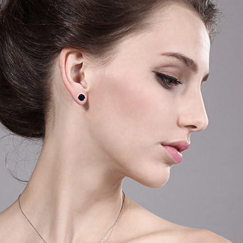 Gemstone Earring Designer Earring 925 Sterling Silver Plated Earring Size 2.5 MK- 13 Natural Tanzanite /& Black Onyx Earring