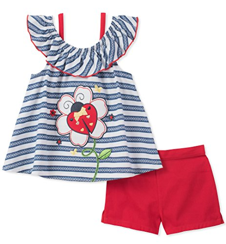 - Kids Headquarters Baby Girls 2 Pieces Shorts Set, Blue, 18M