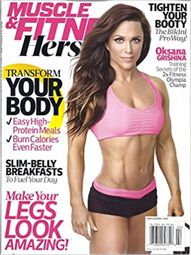 fff235c942a Muscle   Fitness Hers (March April 2016 - Cover  Olympia Champion Oksana  Grishina) Single Issue Magazine – 2016