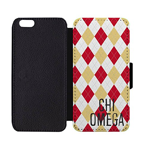 Wallet Phone Case Chi Omega Argyle Print for iPhone 8 / 8S
