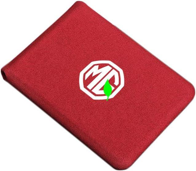 LAUTO Porte-Passeport Housse Protecteur Portefeuille Pochette /étui,Permis de Conduire Portefeuille Porte-Cartes,Porte-Carte de Cr/édit S/écuris/é,Convient aux Voitures MG 6 HS ZS GT GS,etc,Rouge