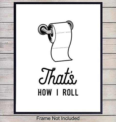 (Funny Bathroom Typography Wall Art Print Poster - Chic Modern Home Decor for the Bath - Great Housewarming Gift - 8x10 Photo- Unframed)