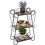 Best Choice Products 3-Shelf Multifunctional Plant Stand Display Rack - Bronze